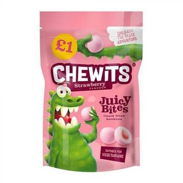 Chewits Strawberry Juicy Bites £1 PMP 145g ( UK )