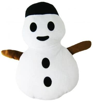 "Christmas ""Snowman"" Icon Emoticon Novelty Stuffed Cushion"