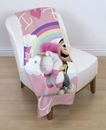 "Despicable Me 3 ""Daydream"" Character Fleece Blanket Snuggle Throw"