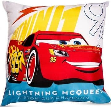 "Disney Cars Lightning ""Reversible"" Character Plush Cushion"