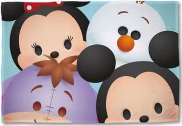 "Disney Tsum Tsum ""Huddle"" Character Fleece Blanket Snuggle Throw"