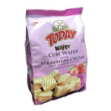 Elvan Today Wafer Cubes Strawberry Cream  200g packet ( Turkey )