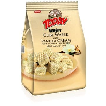 Elvan Today Wafer Cubes Vanilla Cream  200g packet ( Turkey )