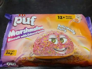 Eti Puf Marashmallow Coloured 12 pack (Turkey)