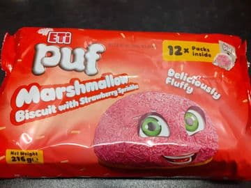 Eti Puf Marashmallow Strawberry 12 pack (Turkey)