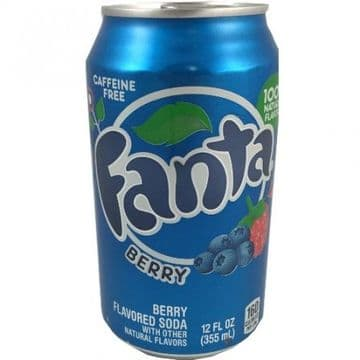 Fanta Berry Blue 355ml can ( US )