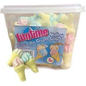Fun Time Mallow Ice Cream Cones Tub 240 Pieces