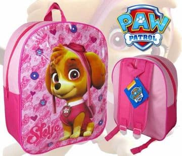 "Girls Official PAW Patrol ""Skye"" Character Nursery School Backpack"