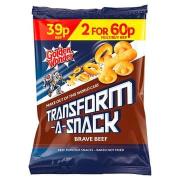 Golden Wonder Transform-A-Snack Brave Beef Flavour Snacks 30g (UK)