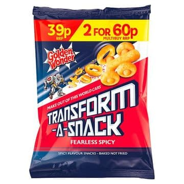 Golden Wonder Transform-A-Snack Fearless Spicy Flavour Snacks 30g (UK)
