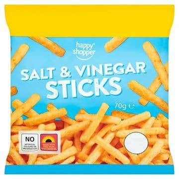 Happy Shopper Salt & Vinegar Sticks 70g (UK)