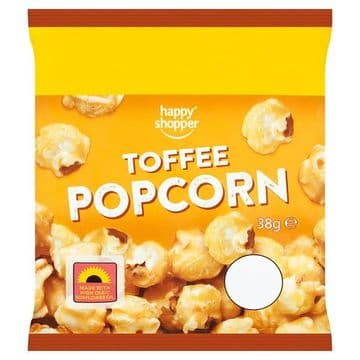 Happy Shopper Toffee Popcorn 38g (UK)
