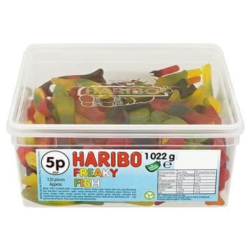 HARIBO Freaky Fish X120  5p Pieces 1022g