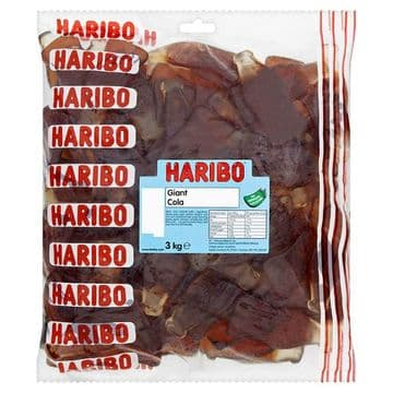 Haribo Giant Cola Bottles 3kg Bag