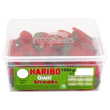 HARIBO Giant Strawbs 120 Pieces 1056g