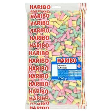 Haribo Rhubarb & Custard 3kg Bag ( New Recipe )