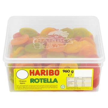 HARIBO Rotella Full Tub 120 Pieces ( UK )