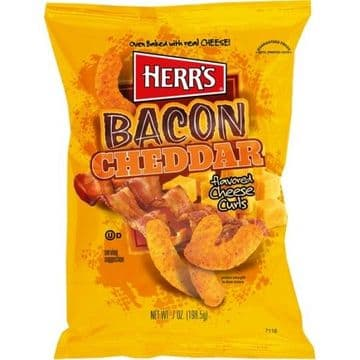 Herr's Bacon Cheddar Cheese Curls 7oz (199g) (US)