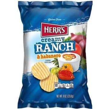 Herr's - Creamy Ranch and Habanero Potato Chips - 1oz (28g) (US)