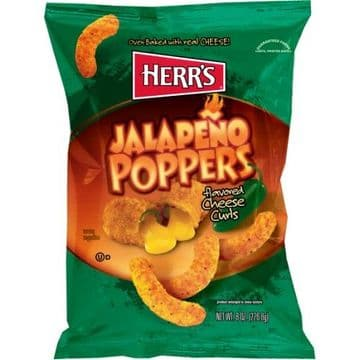 Herr's Jalapeno Poppers Cheese Curls 7oz (199g) (US)