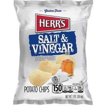 Herr's Salt & Vinegar Potato Chips 1oz (28g) ( US )