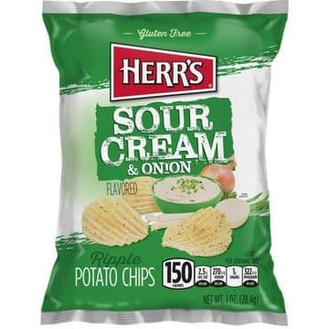 Herr's Sour Cream & Onion Potato Chips 1oz (28g) ( US )