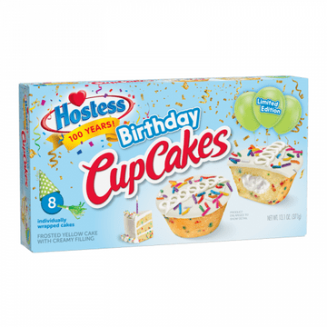 Hostess Limited Edition Birthday Cupcakes 13.1oz 8-Pack ( US )