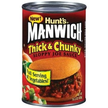 Hunt's Manwich Thick and Chunky Sloppy Joe Sauce 16.3oz (462g) (US)