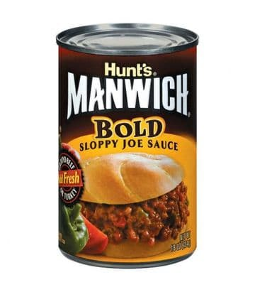 Hunts Manwich Bold Sloppy Joe Sauce 16oz (454g (US)