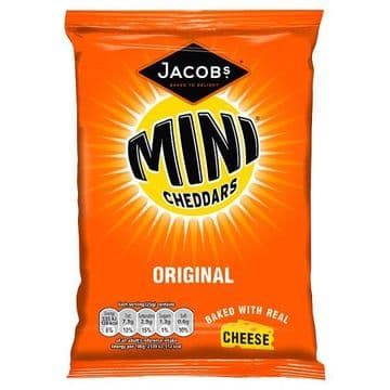Jacob's Mini Cheddars Original Cheese Snacks 50g ( UK )