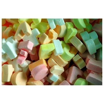 Kingsway ABC Candy Letters 100g  (UK)
