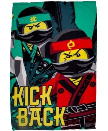 "Lego Ninjago ""Jungle"" Character Fleece Blanket Snuggle Throw"