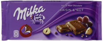 Milka Raisin & Nut 100g Bar (Poland)