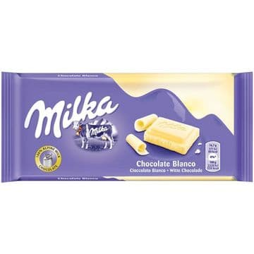 Milka White Chocolate 100g Bar (Poland)
