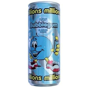 Millions Bubblegum Flavour Fizzy Drink 250ml (UK)