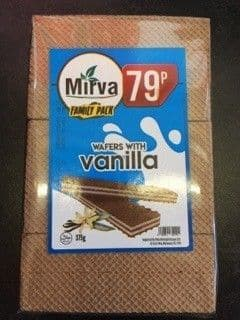 Mirva Wafer with Vanilla Family Pack 375g  (Republic of Macedonia)