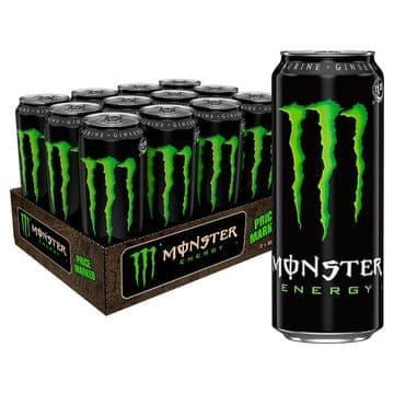 Monster Energy 500ml  Case 12 Cans (UK)