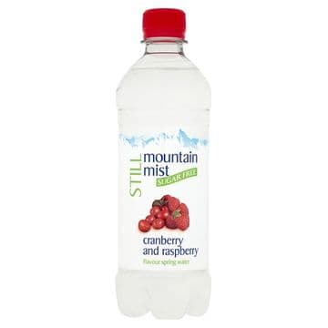 Mountain Mist Still Sugar Free Cranberry and Raspberry Flavour Spring Water 500ml  (UK)