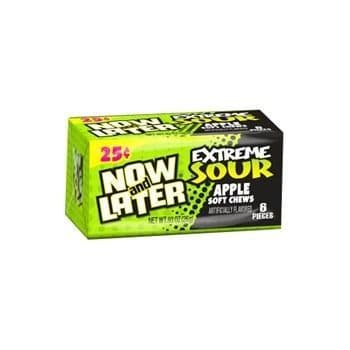 Now & Later Extreme Sour Apple 26g  6 pieces ( US )