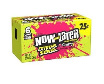 Now & Later Extreme Sour Cherry 26g 6 piece ( US )