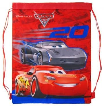 "Official Disney ""Cars 3"" PE, Gym, Shoe Bags ""Perfect for School"""