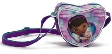 "Official Disney ""Doc McStuffins"" Heart Shaped Shoulder Bag"