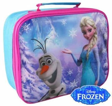 """Official Disney Frozen """"Elsa & Olaf"""" Character Insulated Lunch Bag """"Perfect For School"""""""