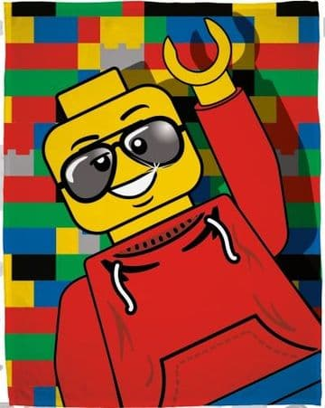 "Official Lego Classic ""Awesome"" Character Fleece Blanket Snuggle Throw"