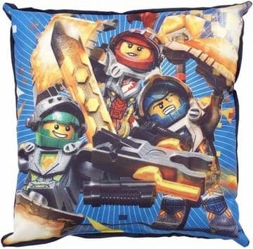 "Official Lego Knights Power ""Reversible"" Character Canvas Filled Cushion Pillow"