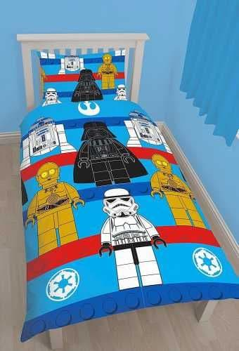 "Official Lego Star Wars Sides ""Reversible"" Single Duvet Cover Bedding Set"