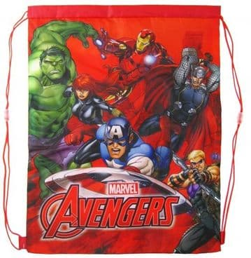 "Official Marvel ""Avengers"" PE, Gym, Shoe Bags ""Perfect for School"""