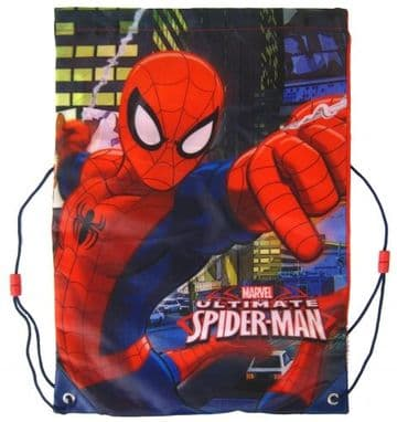 "Official Marvel ""Spider-Man"" Sports PE, Gym, Shoe Bag ""Perfect for School"""