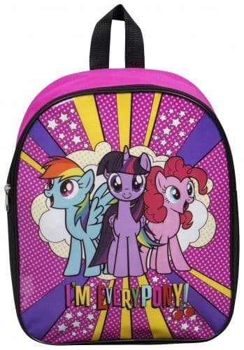 "Official ""My Little Pony"" Character Junior School Backpack im every pony"