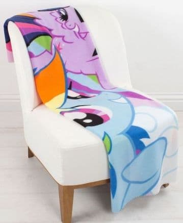 "Official My Little Pony ""Equestria"" Character Fleece Blanket Snuggle Throw"